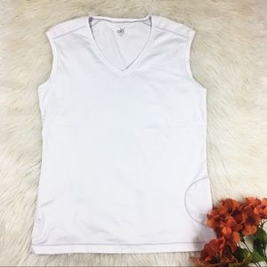 Alo Yoga White CoolFit XXL Tank Top